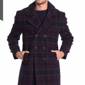 Tommy Hilfiger | Plaid Double Breasted Coat